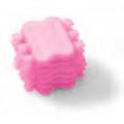 К6252-10S Лигатура SLIDE - Medium  (6шт.), розовая